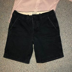 "Abercrombie & Fitch blue cotton shorts; 30"" waist"